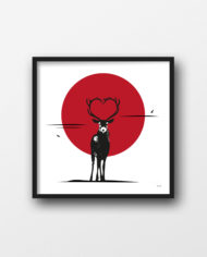 Sunra_Store_urban_art_deer_Love-2